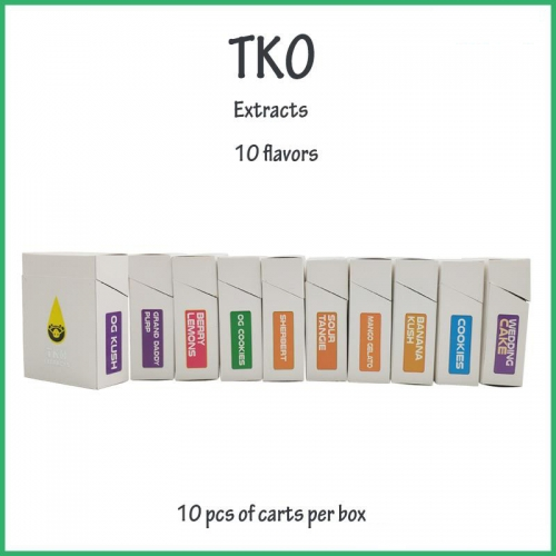 wholesale empty TKO Extracts cartridge with package