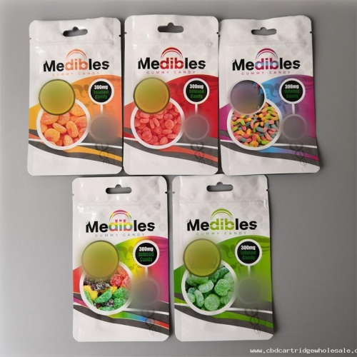 Medibles mylar bag edible bag smell proof pouch gummy candy empty packaging only