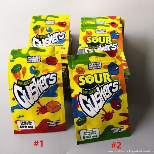 Sour Gushers Exotic Mylar Bag Infused Smellproof Dustproof 500mg